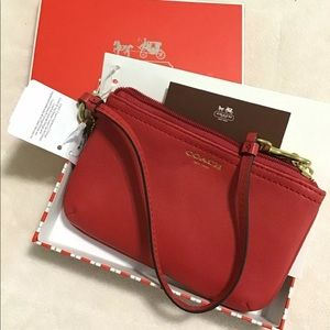 NEW Coach Legacy Leather Small Wristlet